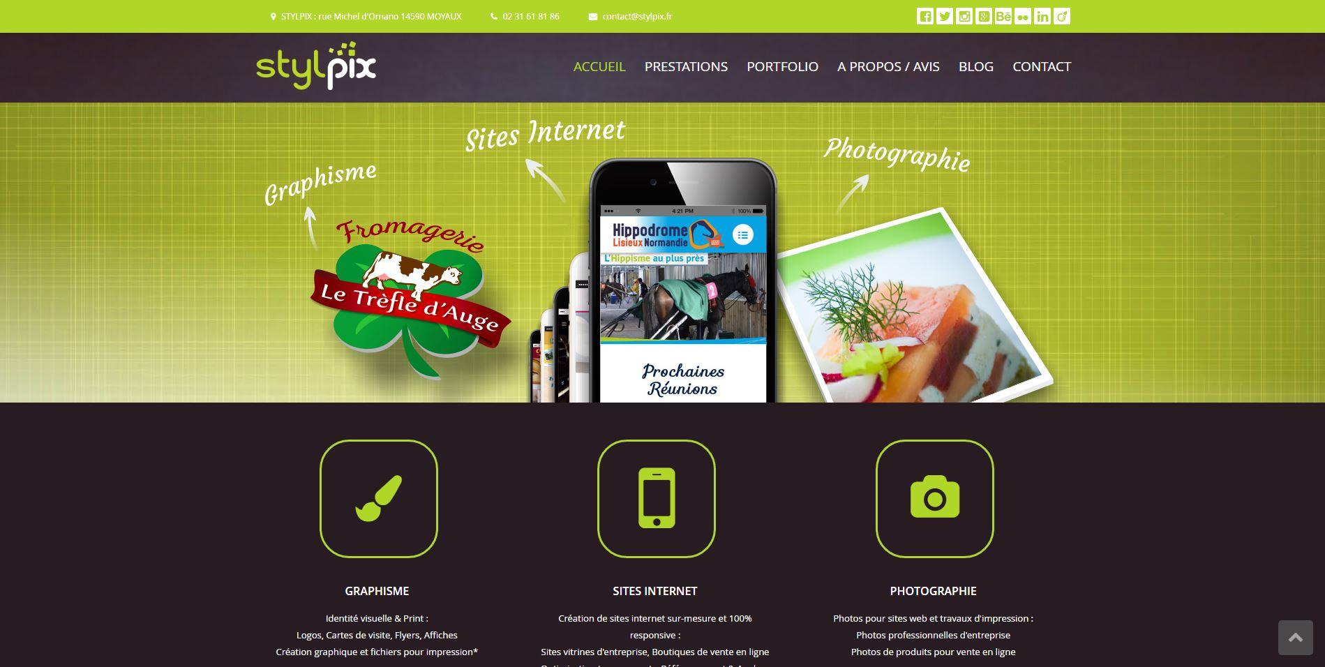 stylpix sites internet lisieux calvados pays dauge