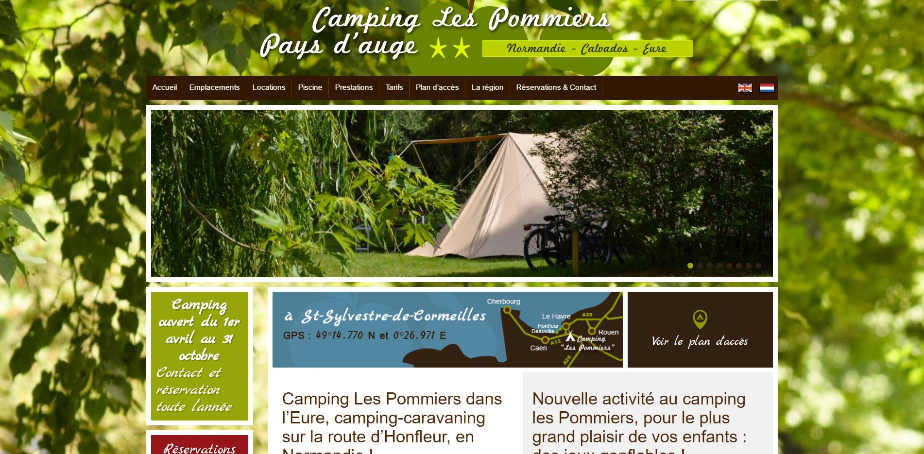 camping pommiers pays dauge